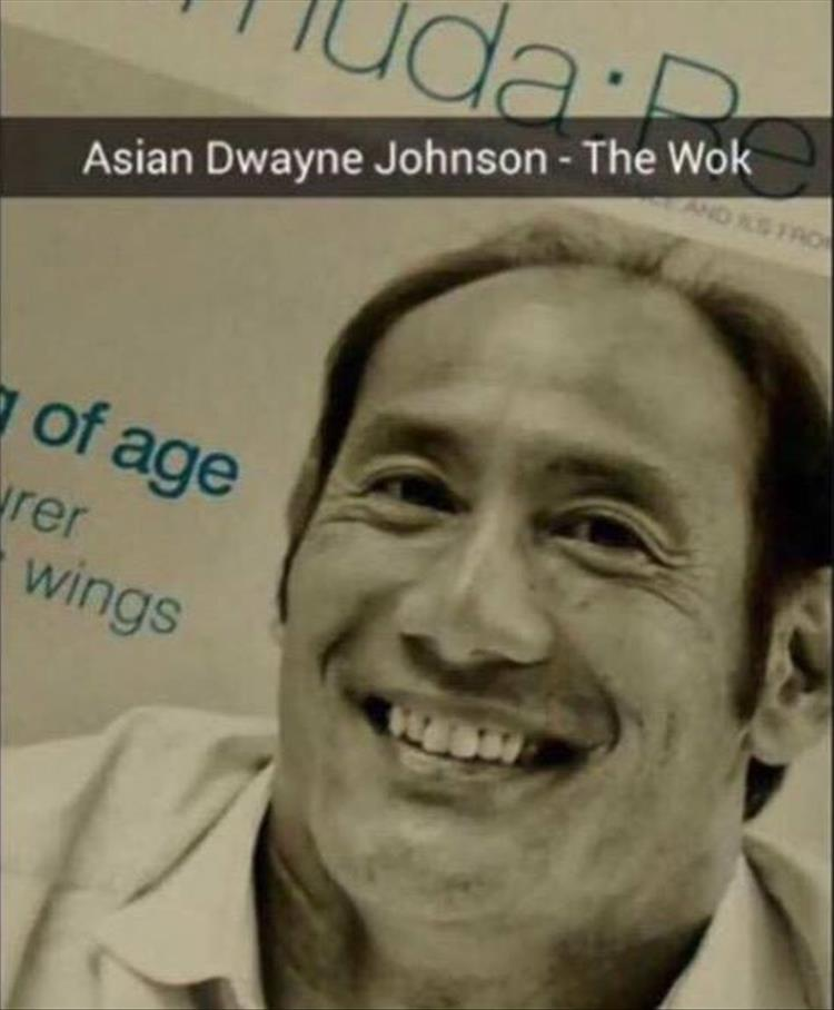 Dwayne 'The Wok' Johnson.