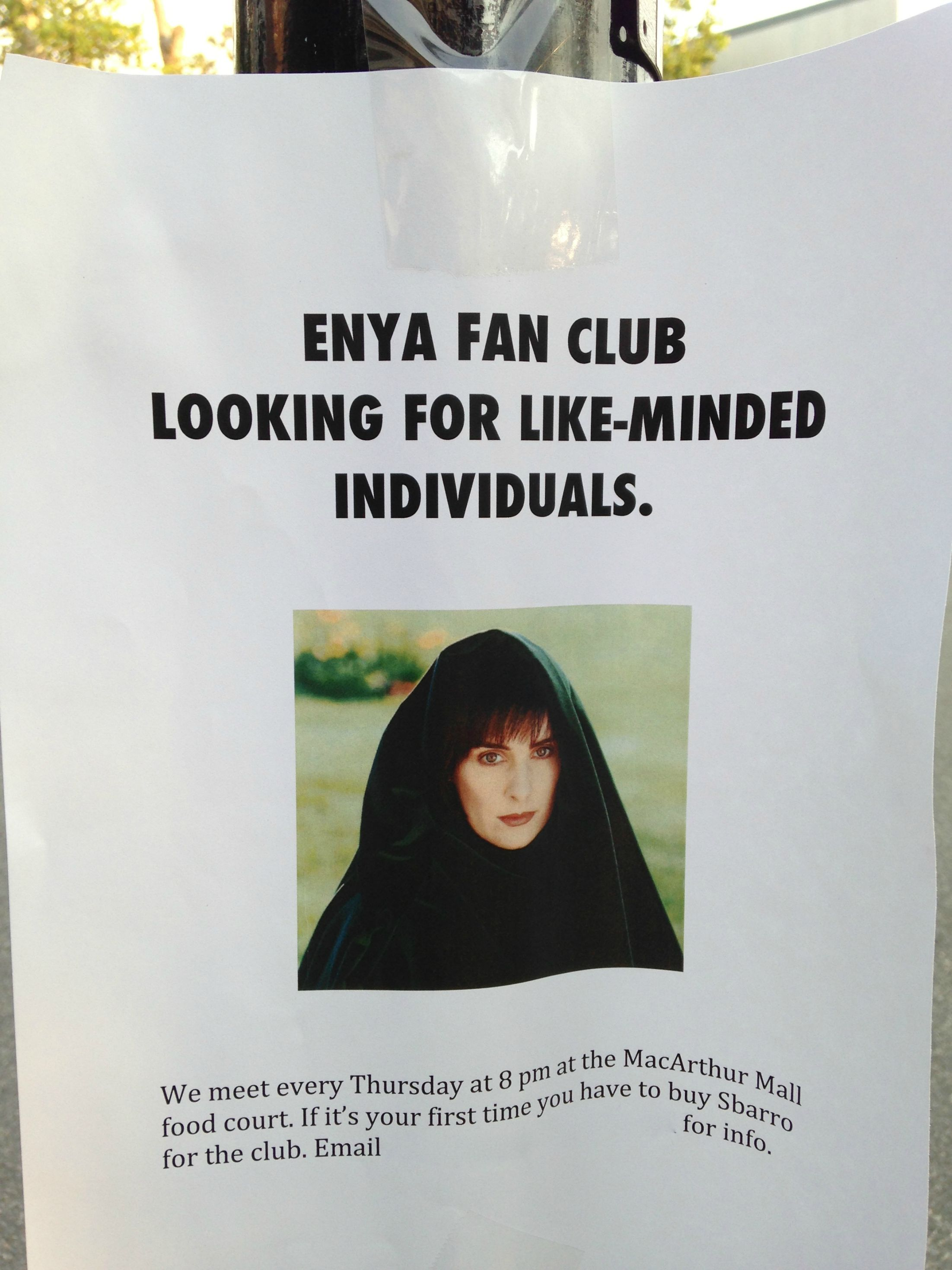 Enya fan club looking for like-minded individuals.