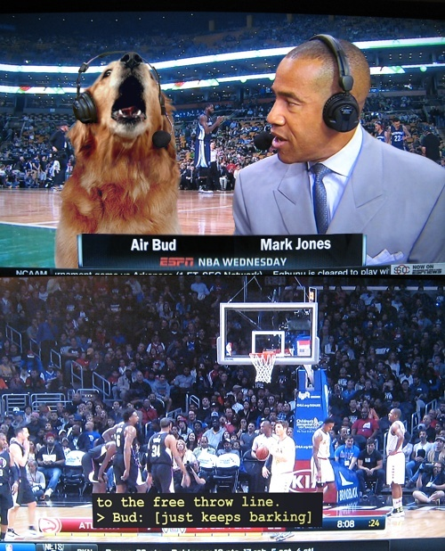 ESPN needs to bring Air Bud back. His commentary was awesome.