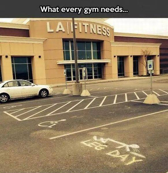 Every gym parking lot needs this.