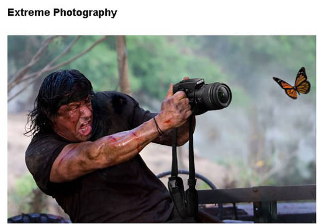 Extreme photography.
