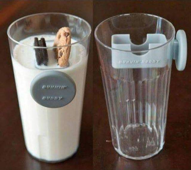 Finally! A product that solves the always difficult task of dunking cookies in milk.