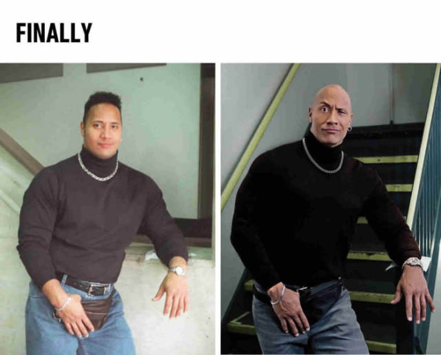 Finally! The Rock has come back to his fanny pack.