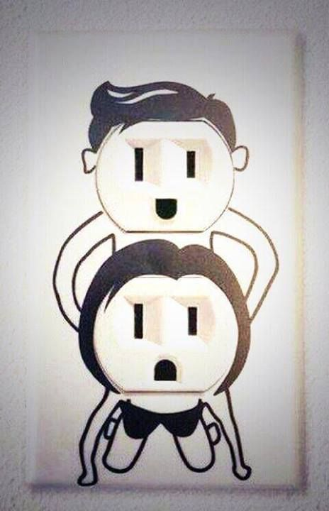 Fornicating wall plates for your electrical outlets.