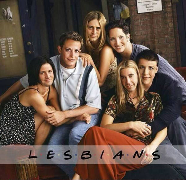 'Friends' TV show spin-off called 'Lesbians'.