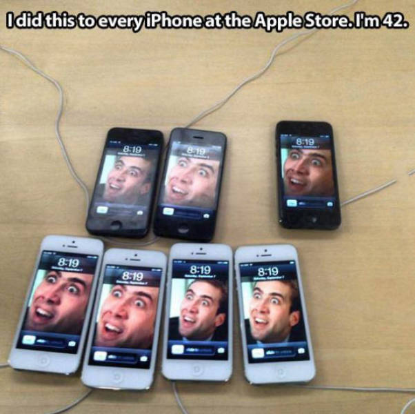 Fun at the Apple Store.