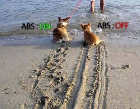 Good Example Of What ABS Is And How It Affects Your Braking Ability.