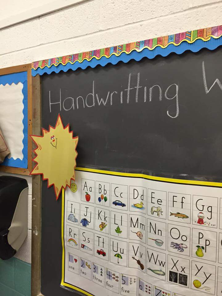 Good handwriting is more important than good spelling in this classroom.