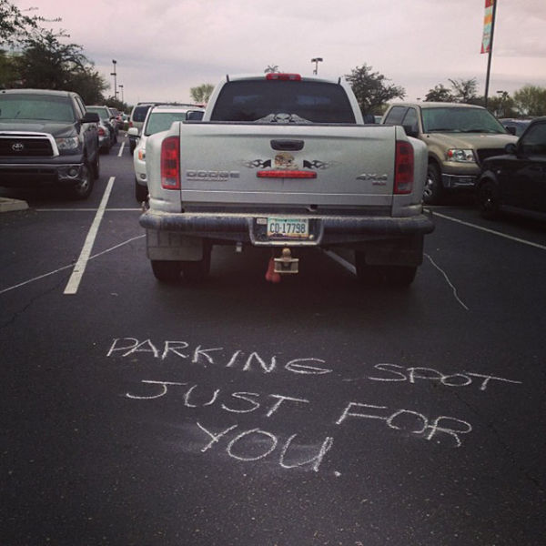 Great way to embarrass those jerks who like to double park.