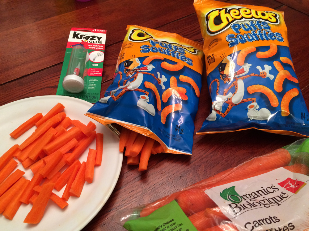 Swap out the Cheetos for some carrots. Your kids will never know the difference.