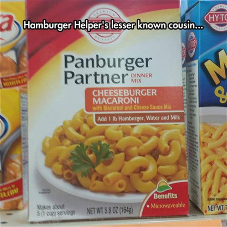 Hamburger Helper's lesser known cousin, Panburger Partner.