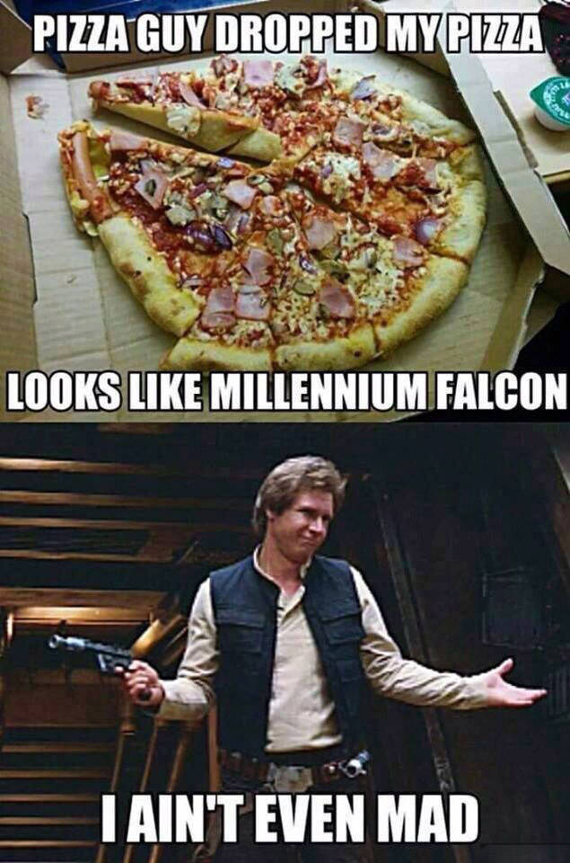Han Solo aint even mad the delivery guy dropped his pizza. - RealFunny