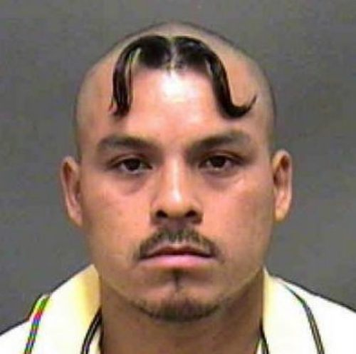 Having a mustache is cool but on  your head not so much