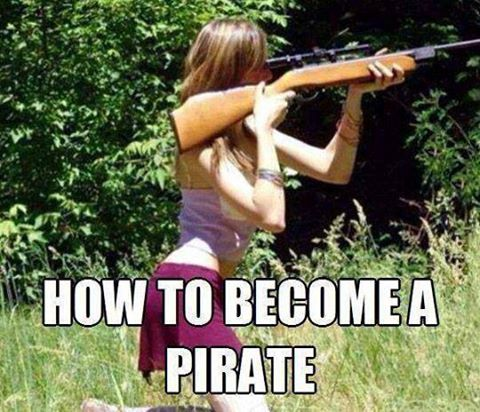 Here is a sure fire way to become an eye patch wearing pirate.