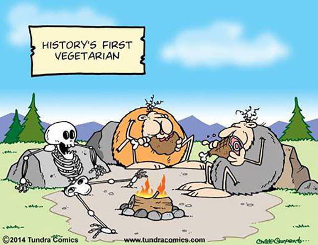 History's first vegetarian.