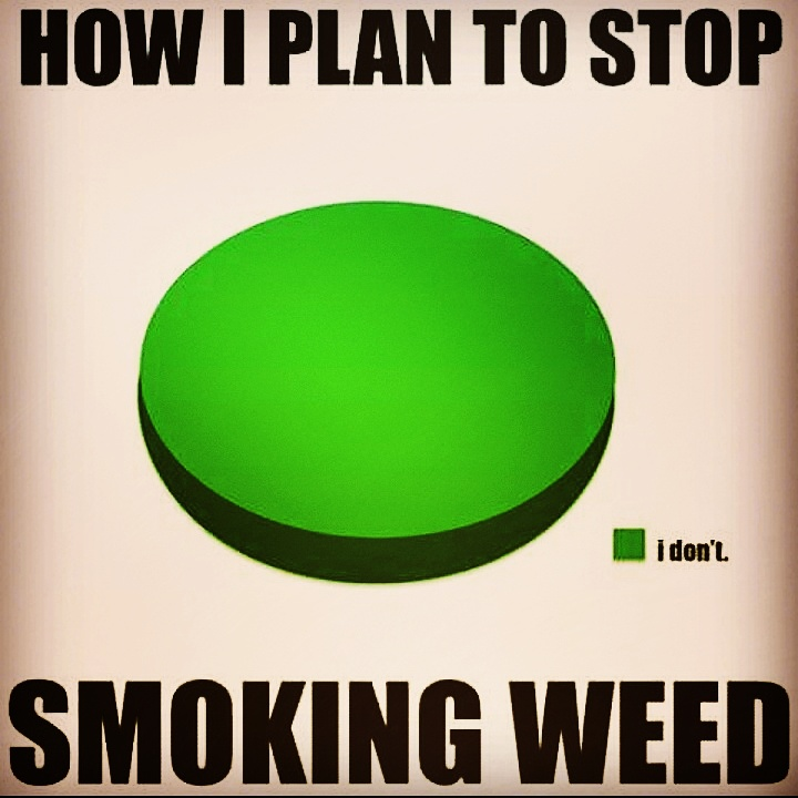 How I plan to stop smoking weed.