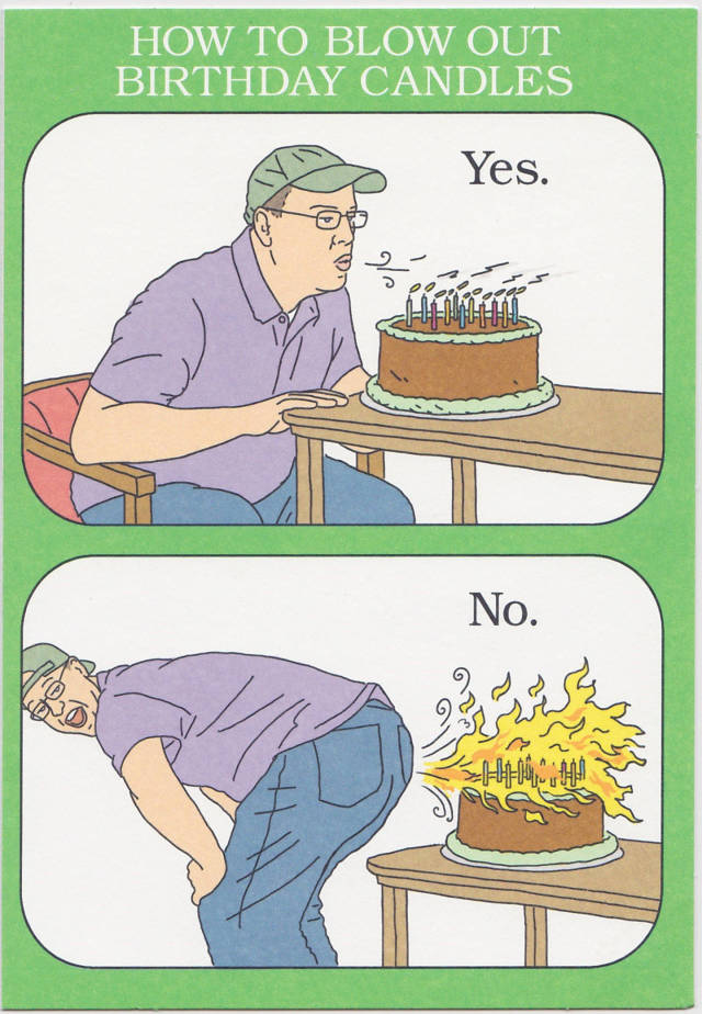 How to blow out birthday candles.