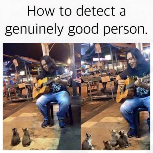 How to detect a genuinely good person.