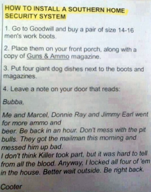 How To Install A Southern Home Security System.