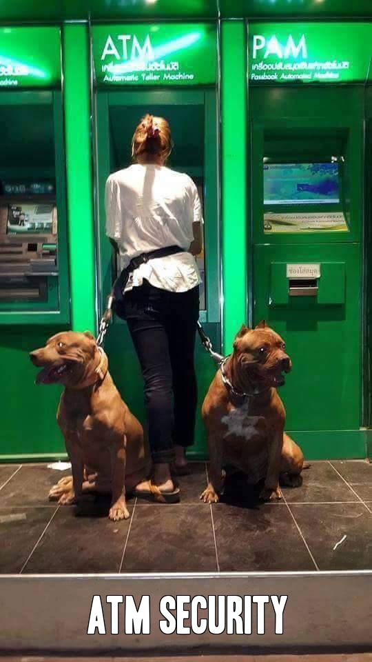Never worry about getting mugged while using the ATM machine.