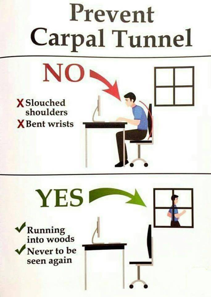 Best way to prevent carpal tunnel syndrome.