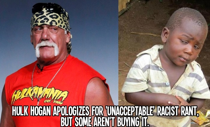 Hulk Hogan apologizes for 'unacceptable' racist rant, but some aren't buying it.