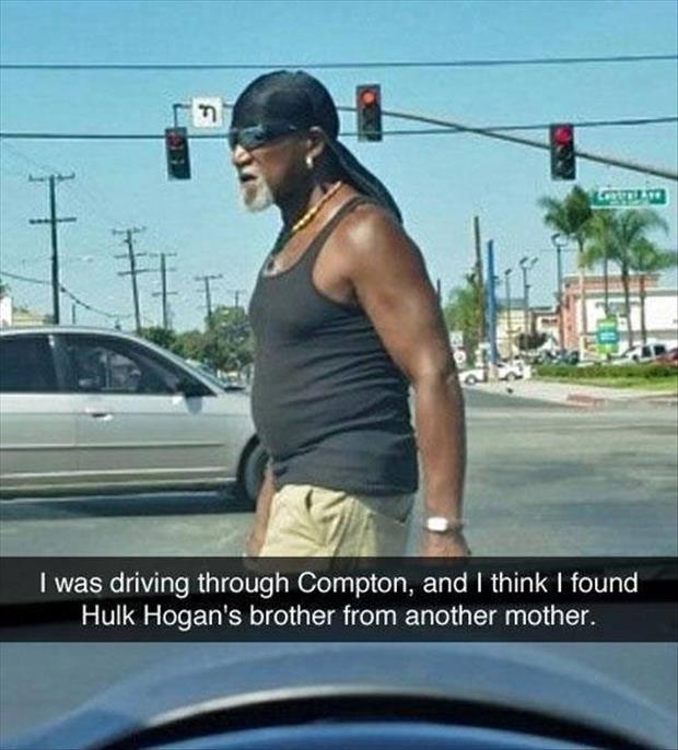 Hulk Hogan's twin spotted in Compton.