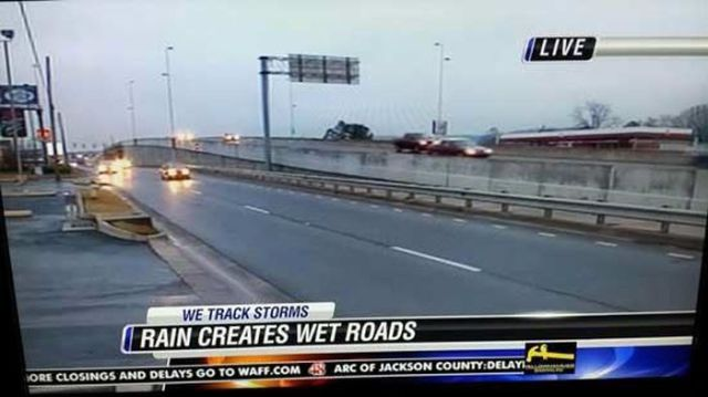 I am not sure if the news thinks society is stupid or if it was just a slow day but I am pretty sure everyone knows rain creates wet roads.