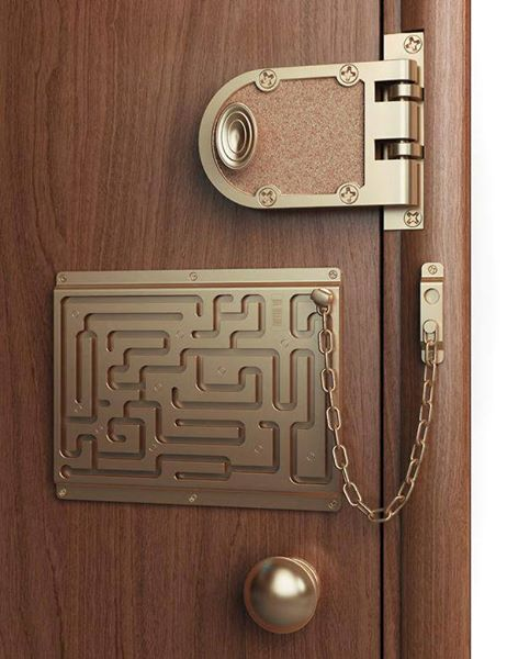 This door lock will test your skills every time you want to leave.