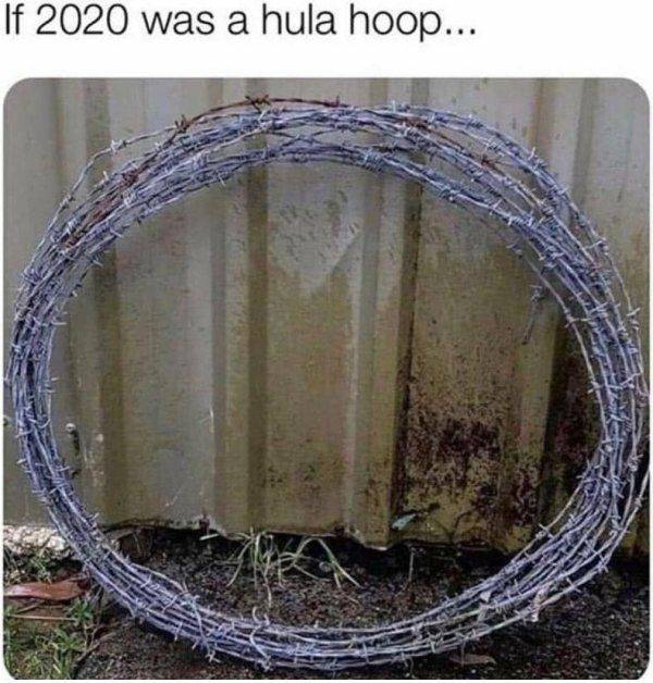 If 2020 was a hula hoop.