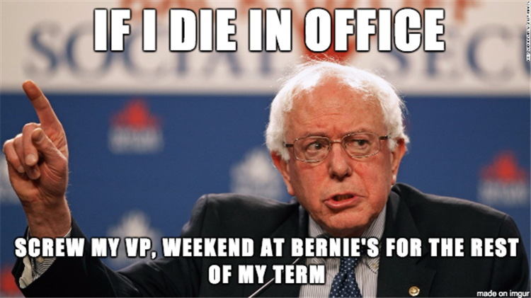 If Bernie Sanders becomes President of the United States but dies in office...