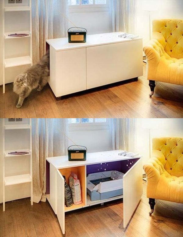 If have an unsightly cat litter box in your house then you may want to get one of these.