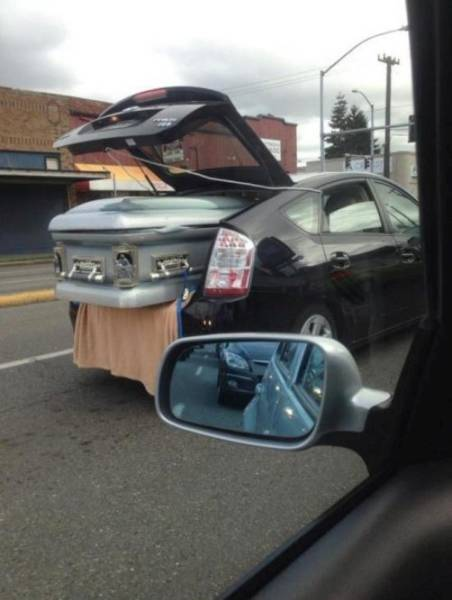 If my casket ever gets taken in a Prius, just shoot me...oh wait.