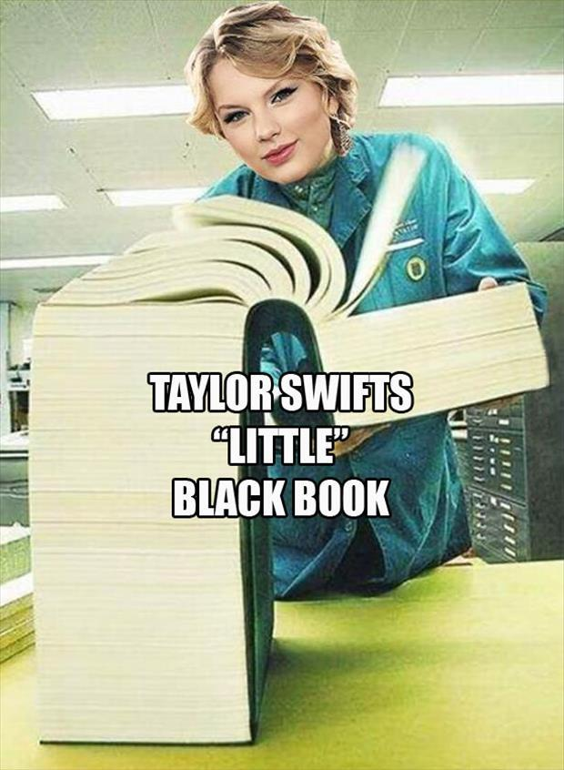 If you ever wondered what Taylor Swift's little black book looked like here it is and it isn't so little after all.