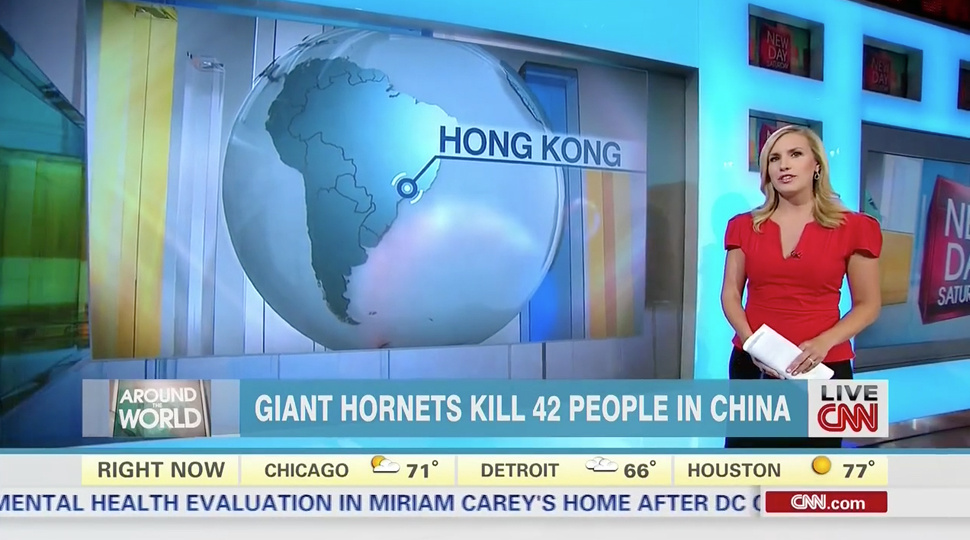 CNN thinks Hong Kong is in South America.