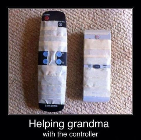 If you know an elderly person who struggles with remote controls that are filled with too many buttons they never use here is a quick way to make things easier for them.