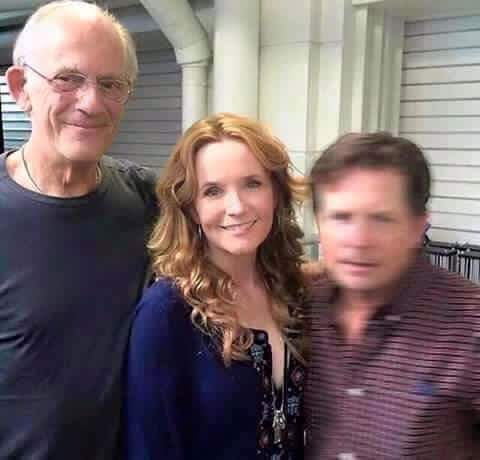 Back to the future cast reunion photo with doc lorraine and marty