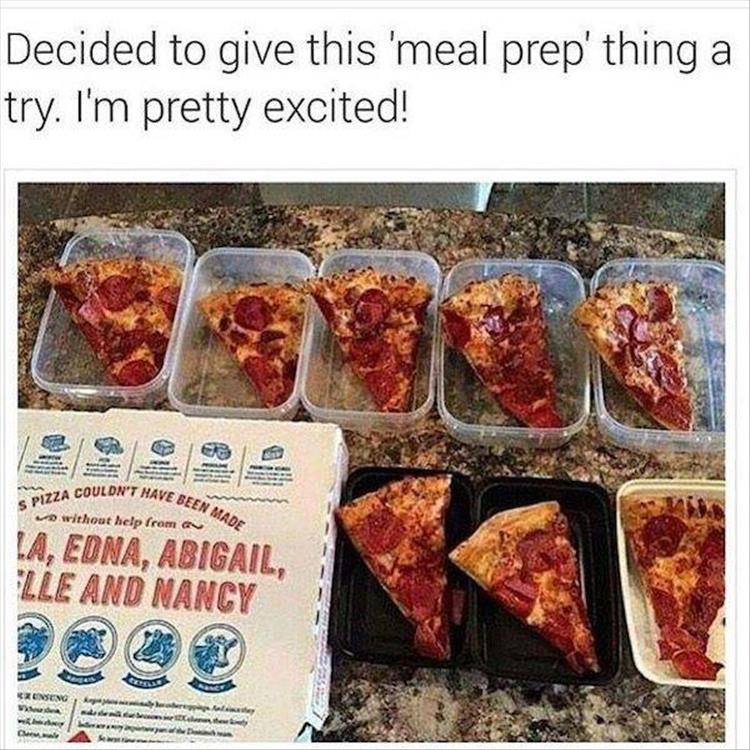 I'm pretty excited to give this 'meal prep' thing a try.