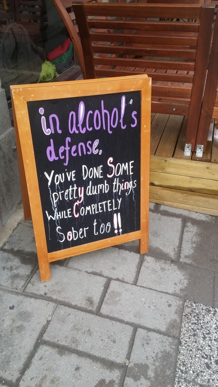 In alcohol's defense...
