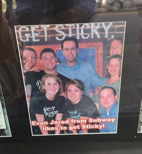 Jared Fogle visited a restaurant named 'Sticky Fingers' back in the day.