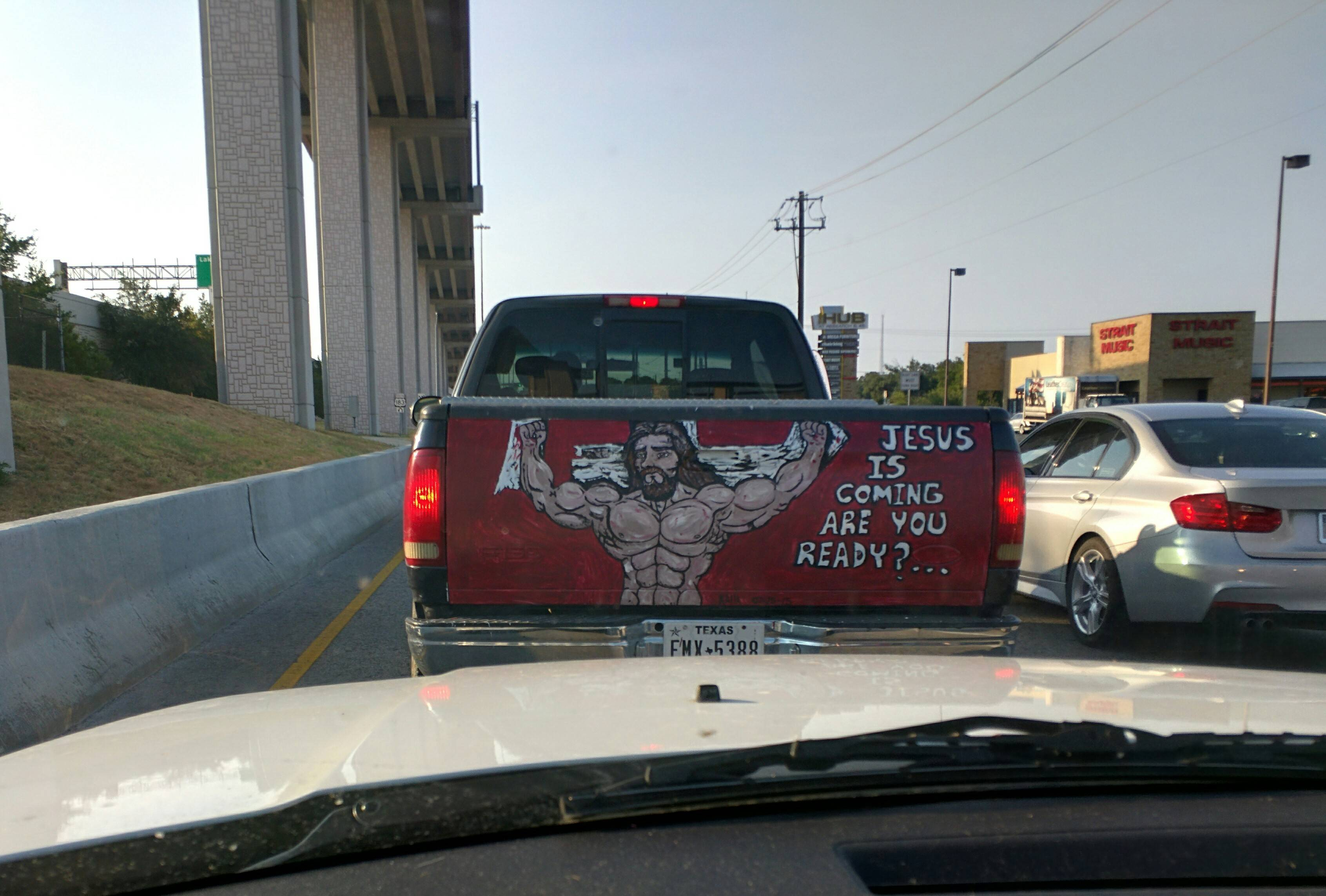 Jesus Christ! Have you been working out?
