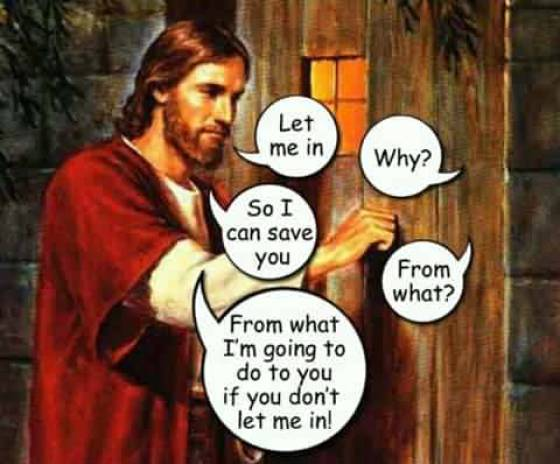 Jesus wants to save you.