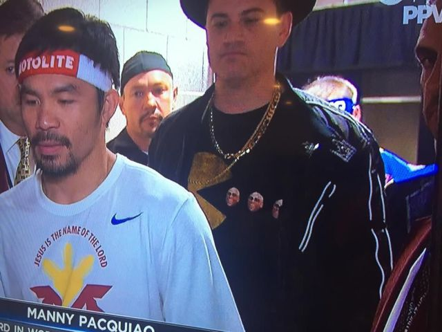 Jimmy Kimmel stole the show at the Mayweather-Pacquiao fight with his Run DMC outfit.