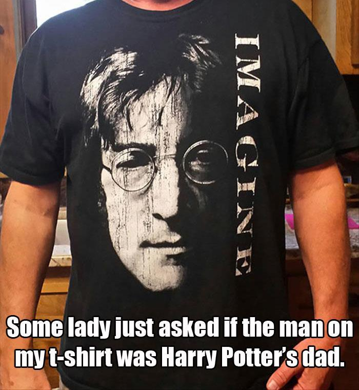 John Lennon being mistaken as the father of Harry Potter is just not right.