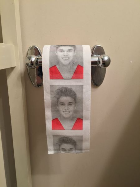 Justin Bieber toilet paper is finally here.