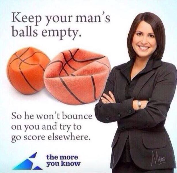 Keep your man's balls empty.