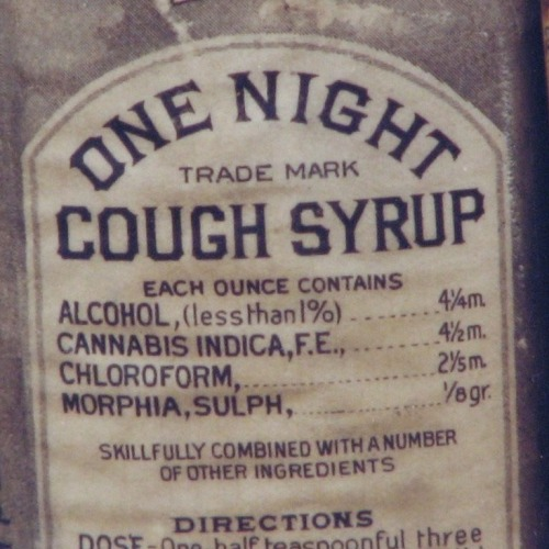 Kohler One Night Cough Syrup. They sure don't make cough medicine like they used to.