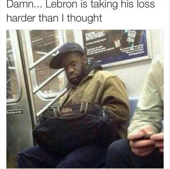 Lebron James is taking the 2015 NBA title loss more serious than I thought.