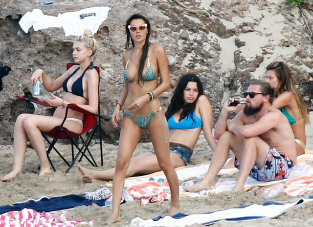 Leonardo Dicaprio with bikini babes while on vacation probably isn't worried about global warming.