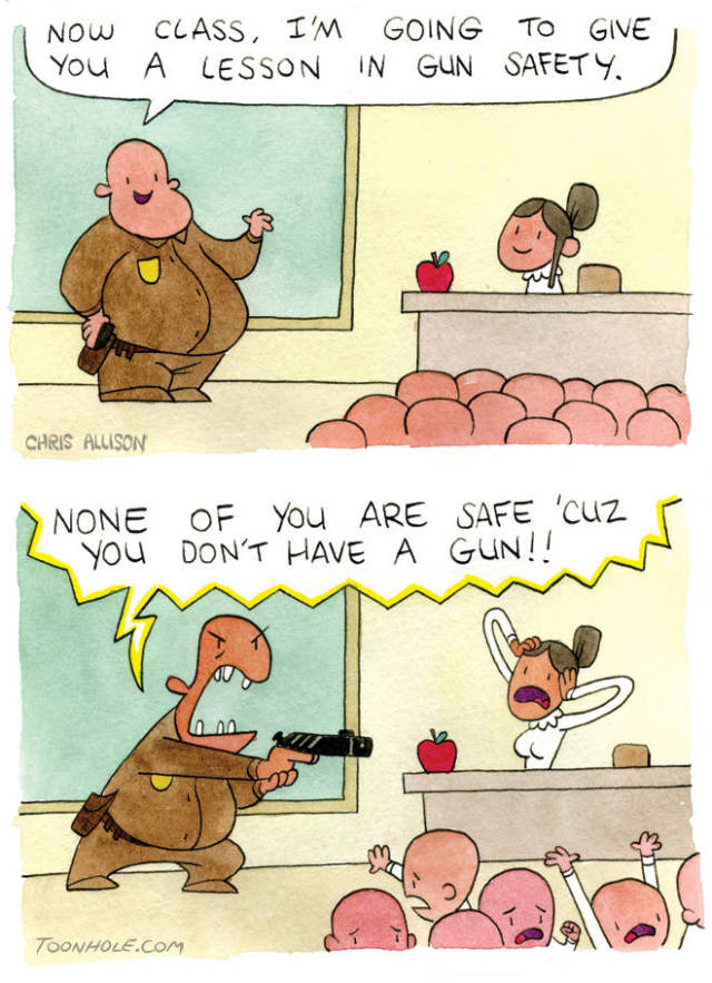 Lesson in gun safety,